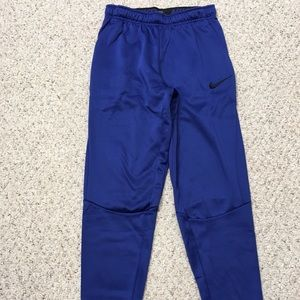 Nike dri-fit royal blue tapered leg sweatpants
